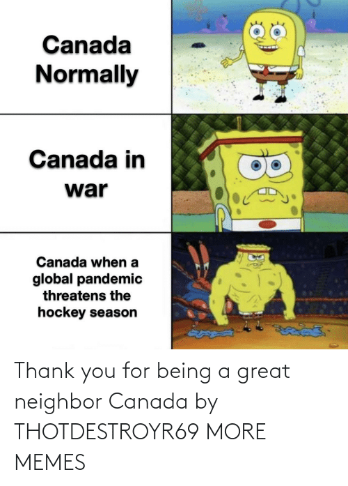 Canada: Thank you for being a great neighbor Canada by THOTDESTROYR69 MORE MEMES