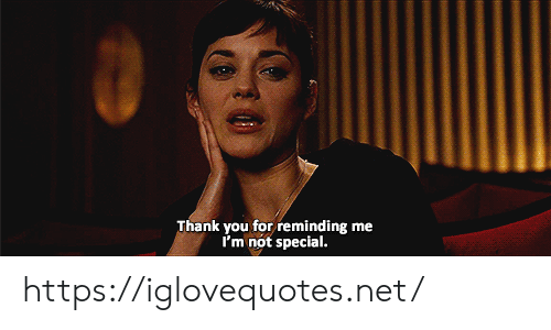 Thank You, Net, and You: Thank you for reminding me  I'm not special. https://iglovequotes.net/
