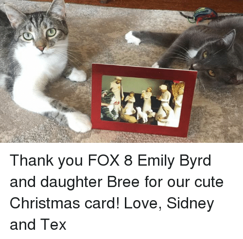Thank You Fox 8 Emily Byrd And Daughter Bree For Our Cute