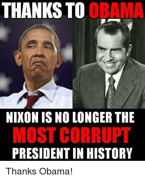Nikon: THANKS  TO OR  NIKON IS NO LONGER THE  MOST CORRUPT  PRESIDENT IN HISTORY Thanks Obama!