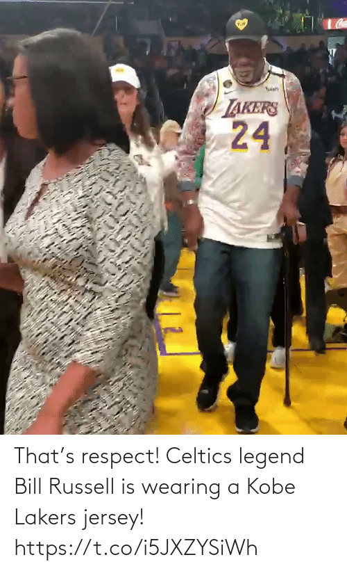 Los Angeles Lakers: That's respect! Celtics legend Bill Russell is wearing a Kobe Lakers jersey!   https://t.co/i5JXZYSiWh