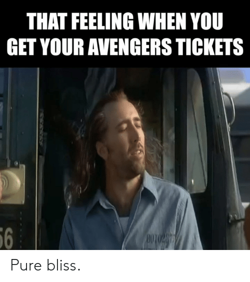 Memes, Avengers, and That Feeling When: THAT FEELING WHEN YOU  GET YOUR AVENGERS TICKETS  6 Pure bliss.