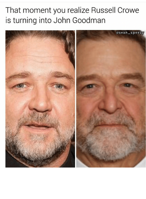 Fartlord69: That moment you realize Russell Crowe  is turning into John Goodman  sean-speezy Gladiator - Meme by Fartlord69 :) Memedroid