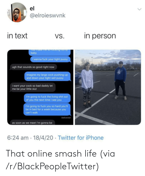 R Blackpeopletwitter: That online smash life (via /r/BlackPeopleTwitter)