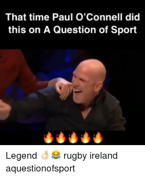 Ireland, Time, and Rugby: That time Paul O'Connell did  this on A Question of Sport Legend 👌🏼😂 rugby ireland aquestionofsport