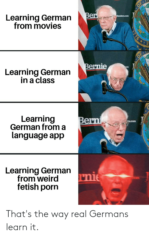 real: That's the way real Germans learn it.