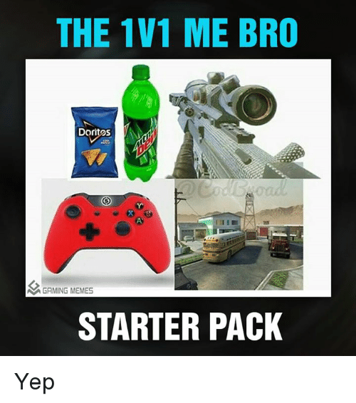 Meme Starter Pack: THE 1V1 ME BRO  Doritos  A GAMING MEMES  STARTER PACK Yep