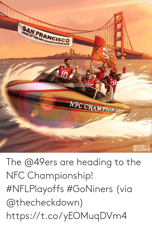 San Francisco 49ers, Memes, and 🤖: The @49ers are heading to the NFC Championship! #NFLPlayoffs #GoNiners  (via @thecheckdown) https://t.co/yEOMuqDVm4