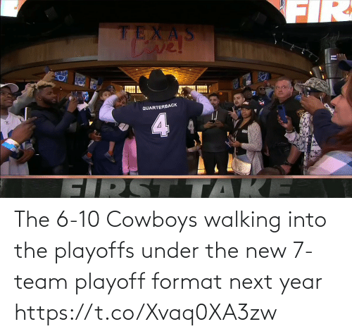 walking: The 6-10 Cowboys walking into the playoffs under the new 7-team playoff format next year https://t.co/Xvaq0XA3zw