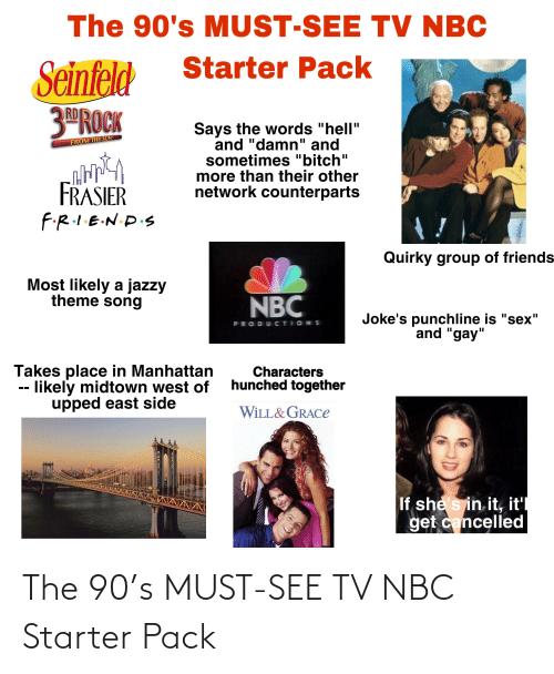 nbc: The 90's MUST-SEE TV NBC Starter Pack