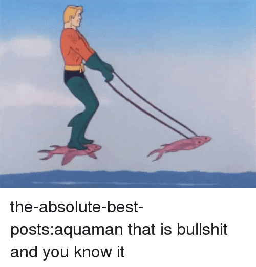 Target, Tumblr, and Best: the-absolute-best-posts:aquaman that is bullshit and you know it