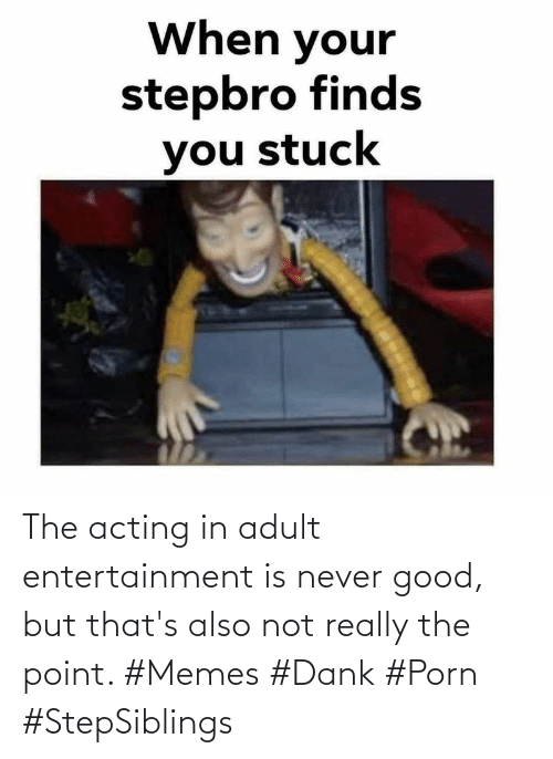 not really: The acting in adult entertainment is never good, but that's also not really the point. #Memes #Dank #Porn #StepSiblings