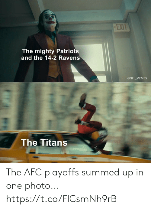 afc: The AFC playoffs summed up in one photo... https://t.co/FlCsmNh9rB