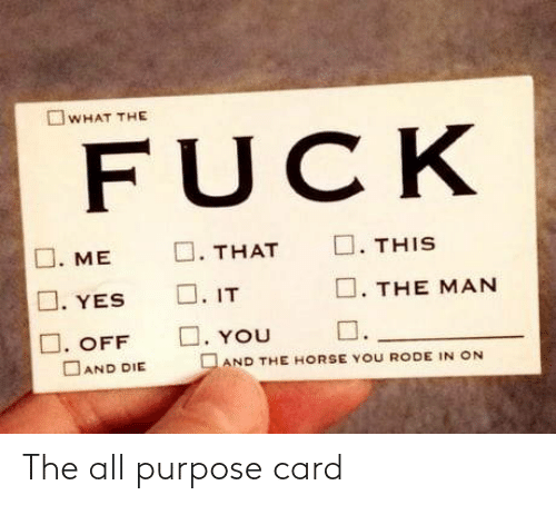 card: The all purpose card