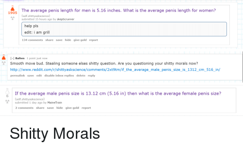 What is the average penis size of a male