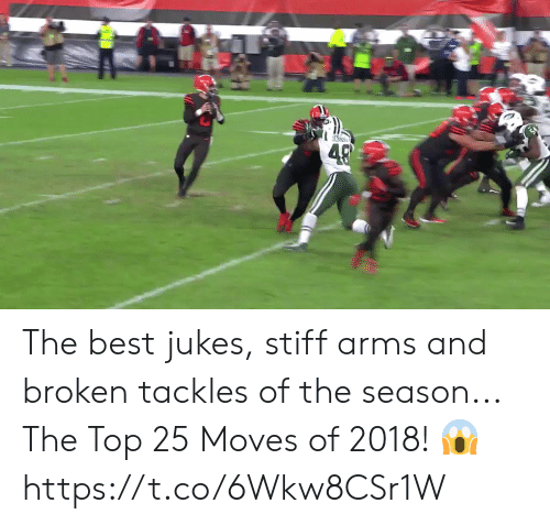 Memes, Best, and 🤖: The best jukes, stiff arms and broken tackles of the season...  The Top 25 Moves of 2018! 😱 https://t.co/6Wkw8CSr1W