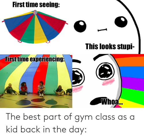 Back: The best part of gym class as a kid back in the day: