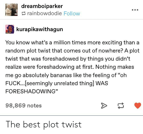 Twist: The best plot twist