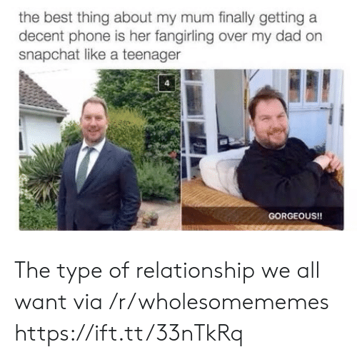 Teenager: the best thing about my mum finally getting a  decent phone is her fangirling over my dad on  snapchat like a teenager  GORGEOUS!! The type of relationship we all want via /r/wholesomememes https://ift.tt/33nTkRq