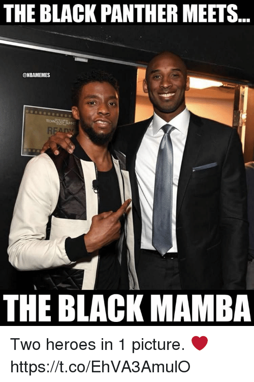 mamba: THE BLACK PANTHER MEETS..  @NBAMEMES  THE BLACK MAMBA Two heroes in 1 picture. ❤ https://t.co/EhVA3AmulO