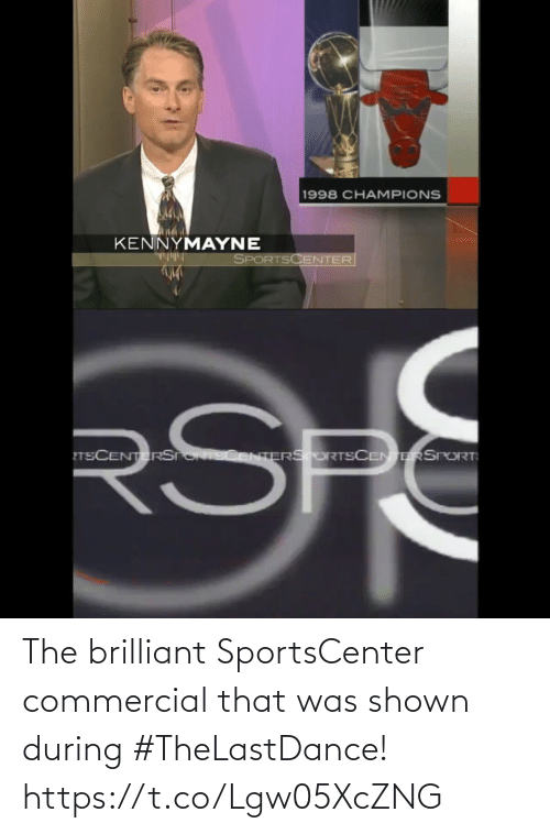 Shown: The brilliant SportsCenter commercial that was shown during #TheLastDance!  https://t.co/Lgw05XcZNG
