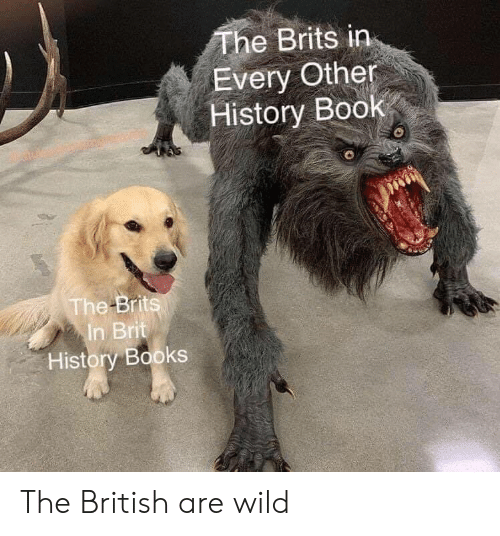 brits: The Brits in  Every Other  History Book  The Brits  In Brit  History Books The British are wild