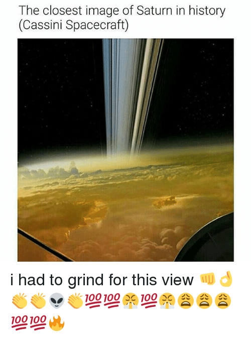 cassini: The closest image of Saturn in history  (Cassini Spacecraft) i had to grind for this view 👊👌👏👏👽👏💯💯😤💯😤😩😩😩💯💯🔥