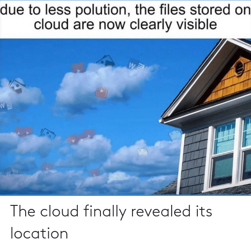 finally: The cloud finally revealed its location
