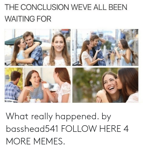 What Really Happened: THE CONCLUSION WEVE ALL BEEN  WAITING FOR What really happened. by basshead541 FOLLOW HERE 4 MORE MEMES.