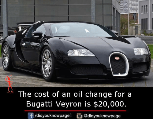 How Much Is An Oil Change >> The Cost Of An Oil Change For A Bugatti Veyron Is 20000