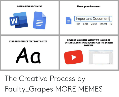 Process: The Creative Process by Faulty_Grapes MORE MEMES