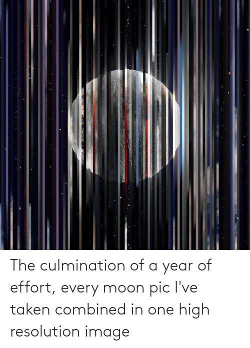 Moon: The culmination of a year of effort, every moon pic I've taken combined in one high resolution image