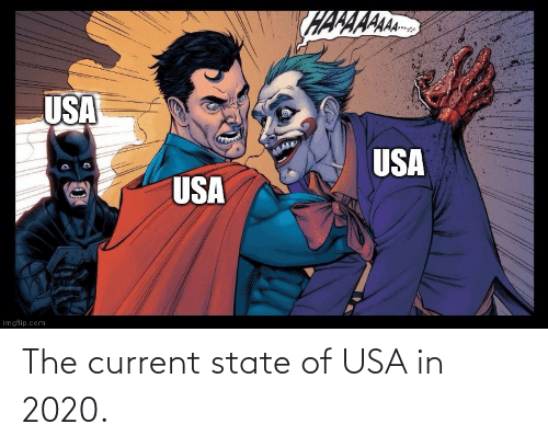 usa: The current state of USA in 2020.