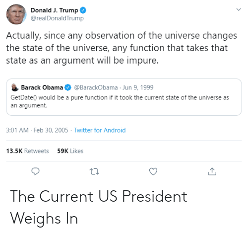 us president: The Current US President Weighs In