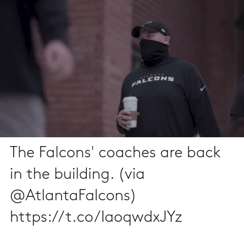 building: The Falcons' coaches are back in the building. (via @AtlantaFalcons) https://t.co/IaoqwdxJYz
