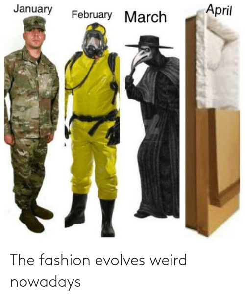 weird: The fashion evolves weird nowadays