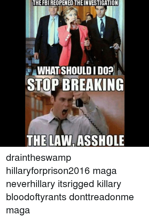 Stop breaking the law asshole amusing information
