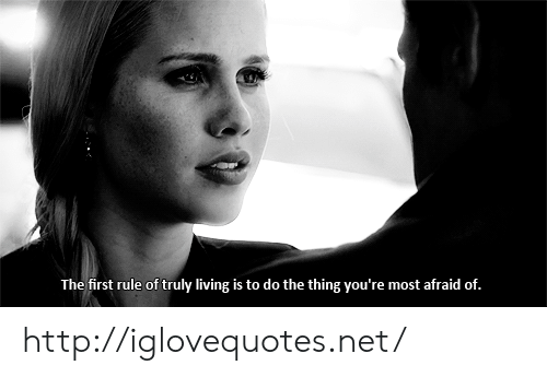 Http, Living, and The Thing: The first rule of truly living is to do the thing you're most afraid of. http://iglovequotes.net/