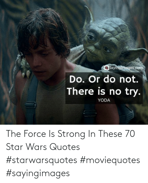 force: The Force Is Strong In These 70 Star Wars Quotes #starwarsquotes #moviequotes #sayingimages