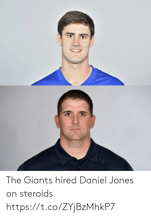 Giants: The Giants hired Daniel Jones on steroids https://t.co/ZYjBzMhkP7