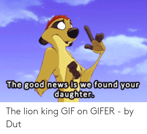 Lion King Gif: The good news is we found your  er The lion king GIF on GIFER - by Dut