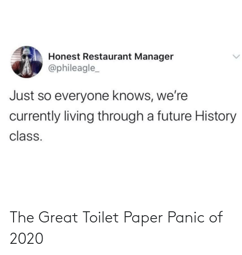 panic: The Great Toilet Paper Panic of 2020