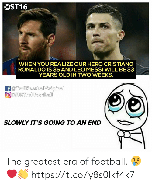 Football: The greatest era of football. 😢❤️👏 https://t.co/y8s0Ikf4k7