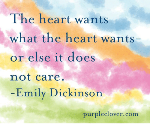 Purple Clover: The heart wants  what the heart wants-  or else it does  not care  Emily Dickinson  purple clover. com