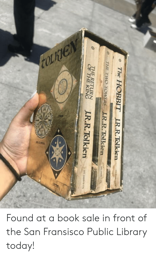 Hobbit: The HOBBIT IR.R.Tolkien  e THE TWO TOWERS LR.R.Tolkien  THE RETURN  en Found at a book sale in front of the San Fransisco Public Library today!