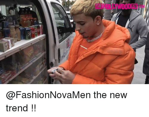 Funny, New, and The New: THE HOLLYWOODFIX @FashionNovaMen the new trend !!