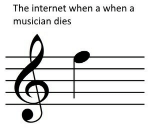 Internet, The Internet, and Musician: The internet when a when a  musician dies