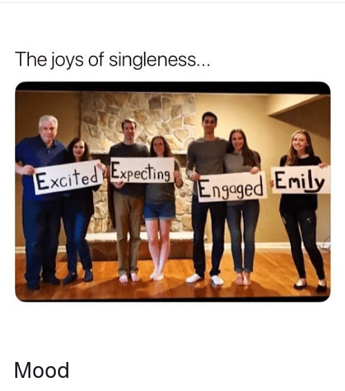 Memes, Mood, and 🤖: The joys of singleness..  Excited Expecting  ngaged Enily Mood