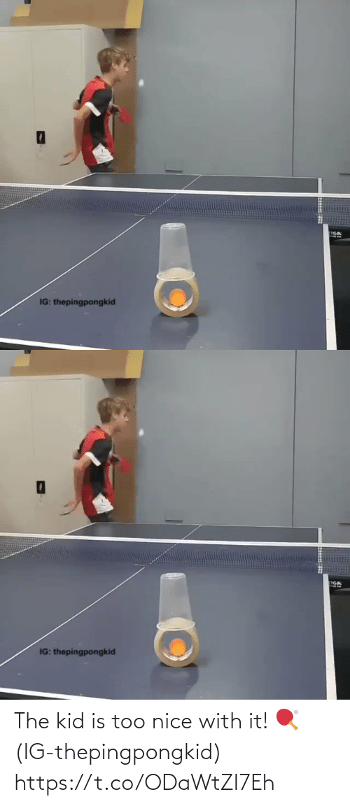 the kid: The kid is too nice with it! 🏓(IG-thepingpongkid) https://t.co/ODaWtZI7Eh