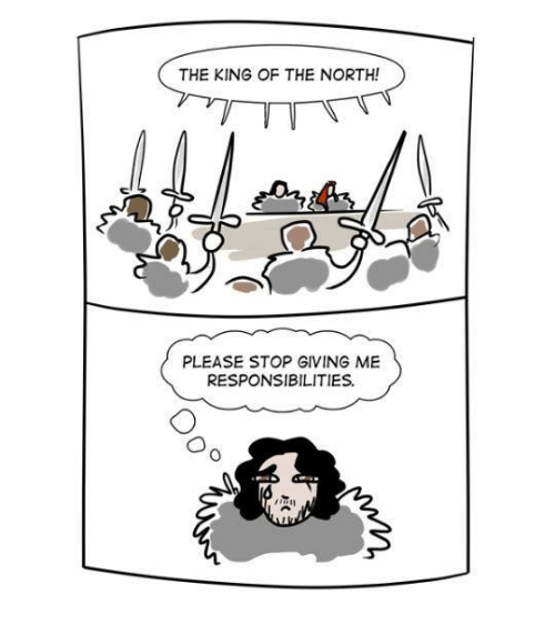 Memes, Responsibility, and 🤖: THE KING OF THE NORTH!  PLEASE STOP GIVING ME  RESPONSIBILITIES.